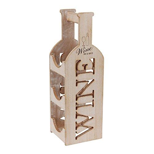Weinregal aus Holz, Vintage-Look, 3Flaschen, Einrichtungsdesign und Geschenkidee