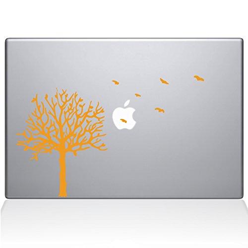 The Decal Guru 2094-MAC-13X-SY Baum mit Vögeln, Vinyl-Aufkleber, Gelb, 33 cm (13 Zoll) MacBook Pro (2016 und Neuer) - Decal Mac Baum