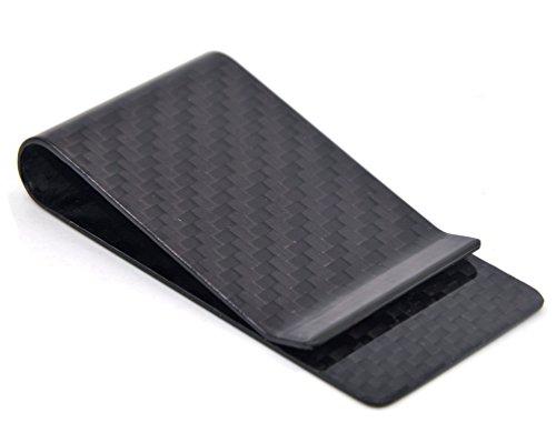 Carbon Faser Geld Klipp Kreditkarte Visitenkarte Bargeld Halter Geldscheinklammer L Schwarz -