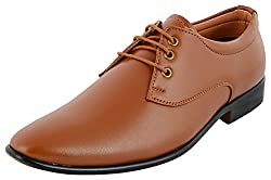 Shoeadda Mens Tan Derby Shoes - 6 UK
