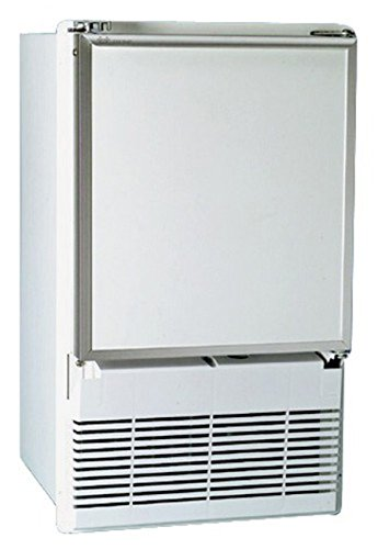 U-Line Eiswürfelmaschine zum Einbau - 62cmx36cmx43cm - erhältlich in weiß oder schwarz, Farbe:schwarz