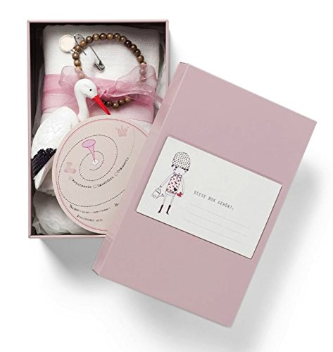 WANDLER by Infinity Boxes Geschenk-Box Geburt - It's a girl, Metall-Box, klein, B11,3xL17,3xH7cm, rosa