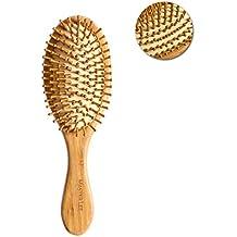 ROSENICE Cepillo de pelo natural de bambú peine cepillo de cuero cabelludo masaje para el cuidado