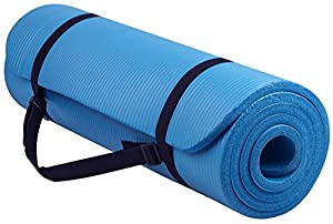 IREALIST High Density Anti-Tear Exercise Yoga Mat with Carrying Strap (Blue)