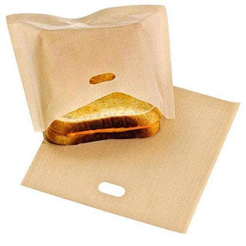 Bolsa tostadas teflón reutilizable 2 piezas Bolsa