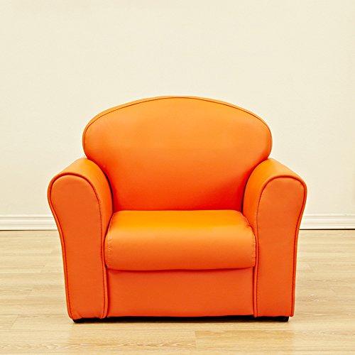 DEO Bureau d'ordinateur Fauteuil pour enfants Fauteuil de luxe pour enfants Fauteuil pour enfants Chaise de dessin animé Canapé Cadre en bois durable (Couleur : Orange)