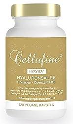Cellufine® HyaVita® Hyaluronsäure 100 mg fermentiert mit Collagen Typ I & II + Q10 - 120 Kapseln