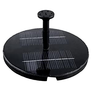 Leegoal Solar Powered Water Pump Garden Fountain Pond Feature