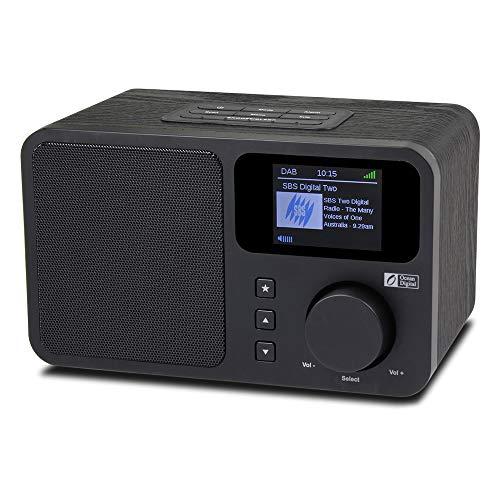 Ocean Digital DB230C Dab/Dab + / FM Poste Radio Numérique antennes Tuner Bluetooth récepteur Lecteur de Musique Haut-parleurs avec Aux-in | 2 Radio réveil | Écran LCD - en Bois