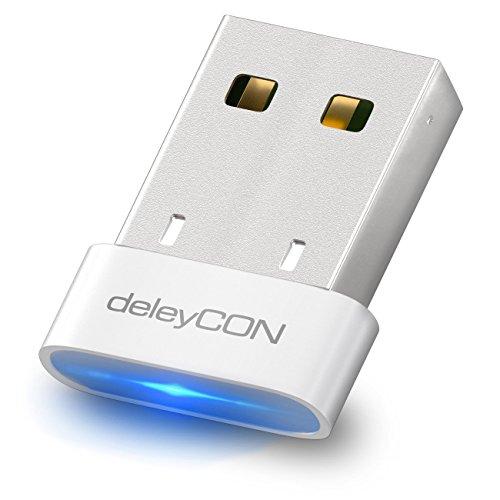 Bluetooth-hdmi-tv Adapter (deleyCON USB Bluetooth Adapter Stick - Bluetooth 4.0 Technologie - Plug & Play - EDR Modus bis 3MBit/s - Windows 10 kompatibel - bis 10m Reichweite - Weiß)