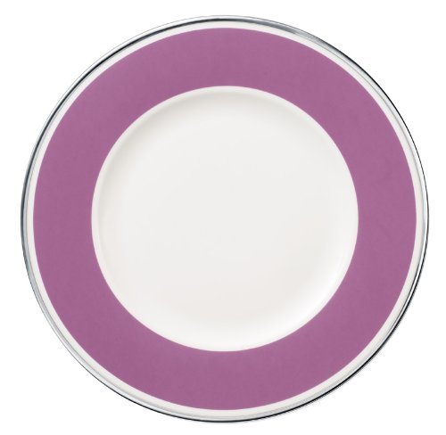 27cm Speiseteller 'Anmut My Colour' aus Premium Bone Porzellan Farbe: Pink Rose