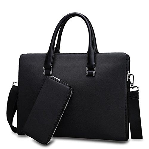 Business Bag Boutique Herren Tasche Reise Herren Handtasche Bunny Aktenkoffer Herren Leder Tasche Computer Tasche Horizontale Pack Black