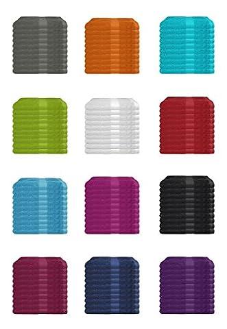 SUPERTOLL 10er Pack Gästetücher, 30x50 cm zum Sonderpreis 100% Baumwolle in vielen Farben - 10er Pack Gästetuch, Gästetücher, 30x50 cm, Farbe