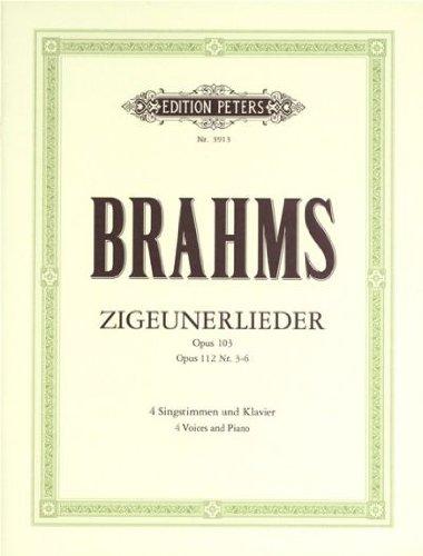 Zigeunerlieder Op.103-Op.112 (SATB/Piano) - Cht/Po