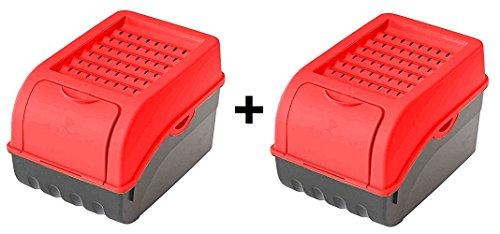 2 x bo te de conservation pour pommes de terre l gumes. Black Bedroom Furniture Sets. Home Design Ideas