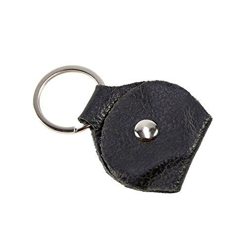 dianlan1 Schlüsselanhänger aus Leder für Gitarre Plectrum Bag Black Case
