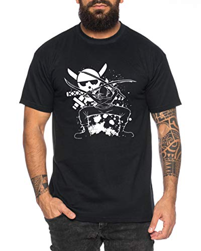 Zoro Angry One Manga Camiseta Luffy de Hombre Anime...