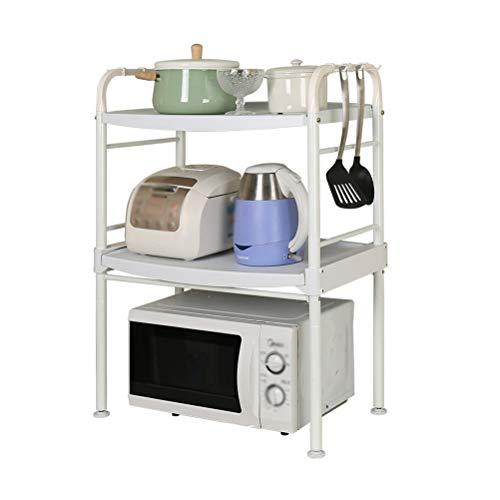 Kitchen furniture - Support détachable de four à micro-ondes d'étagère d'appareils électriques multifonctions avec des crochets WXP