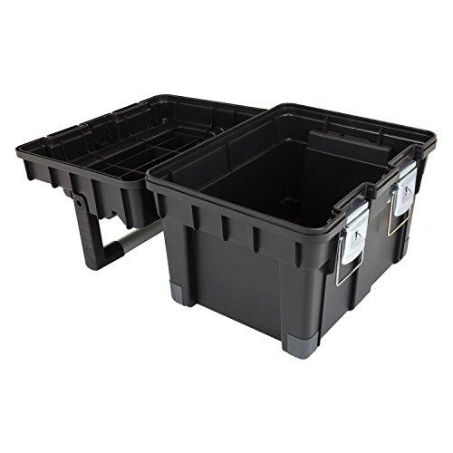 HD Compact 1 Werkzeugkoffer Box Toolbox Werkzeugkiste 450x350x350 Alugriff schwarz - 5