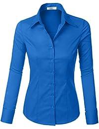 f114128e Amazon.co.uk: LE3NO - Blouses & Shirts / Tops, T-Shirts & Blouses ...