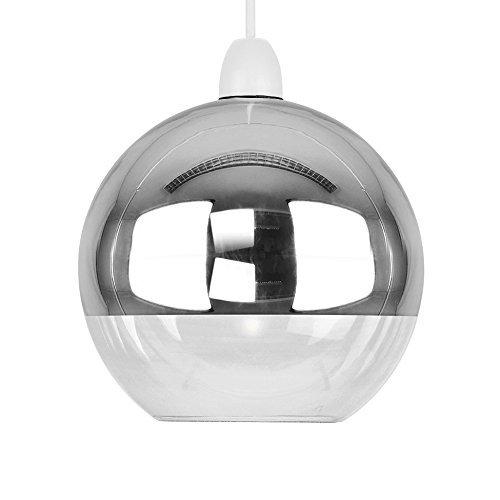 Farbtöne, modern, klares Glas, kugelrunder Lampenschirm, glas, chrome 40.0W ()