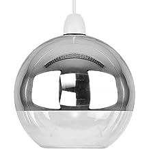 Moderna Pantalla para Lámpara de Techo Colgante Arco con Forma de Bóveda / Globo en Dos Tonos con Efecto Cromado y Cristal Transparente