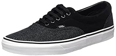 Vans Unisex Era (Suede & Suiting) Black Skate Shoe 5 Men US / 6.5 Women US