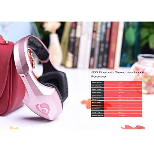ALIKEEY Kabellose Kopfhörer Leichter Kopf S33, der drahtlosen Bluetooth mit eingebautem Mikrofon trägt Ohrhörer für iPhone, iPad, Samsung, Huawei, xiaomi und mehr - 5