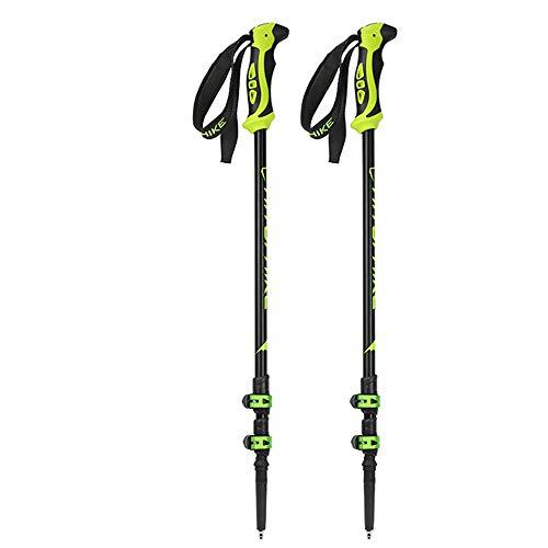Yinglihua Skistock Wanderstock Aluminium Skistöcke Faltbar Schnellverschluss 65 cm Bis 135 cm Paar Geeignet für Wanderungen -