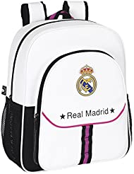 Safta - Mochila junior adaptable Real Madrid, 32 x 38 x 12 cm (611457640)