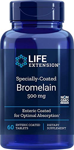 Bromelain, Specially-Coated, 500 mg, 60 Enteric Coated Tablets