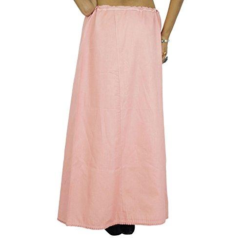 Solide Petticoatunderskirt Bollywood Indian Women Clothing Baumwollfutter Für Sari Pfirsich