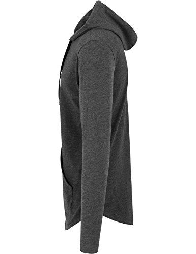 Jersey Hoody Urban Classics Streetwear Felpa Cappuccio Uomo Grigio (Carbone 91)