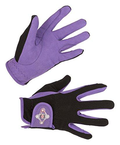 Covalliero Kinder Kinderreithandschuh Lilli Black/Purple, Größe M Reithandschuh, M