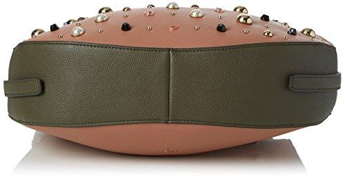 Nica Damen Suki Schultertasche, 9x21x32 cm Pink (Almond)