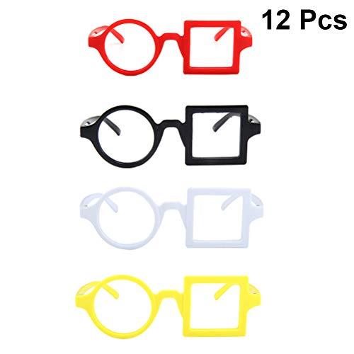 YeahiBaby Kinderbrillenrahmen für Cosplay-Requisiten, Party-Dekoration, 12 Stück (zufällige...