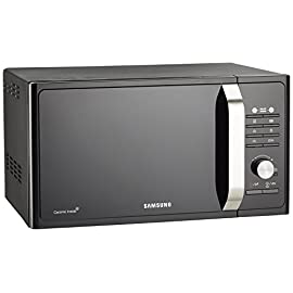 Samsung MG23F302TAK Forno Microonde Grill, 800 W, Grill 1100 W, Healthy Cooking, 23 Litri, Nero/Argento, 40 x 49 x 30 cm