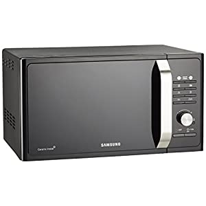 Samsung MG23F302TAK Forno Microonde Grill, 800 W, Grill 1100 W, Healthy Cooking, 23 Litri, Nero/Argento, 40 x 49 x 30 cm 2 spesavip