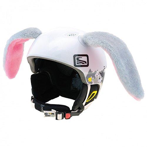 Mädchen Für Helm Snowboard (Crazy Ears Helm-Accessoires Hase Hund Ohren Ski-Ohren Tierohren , CrazyEars:Graue Hasen Ohren)