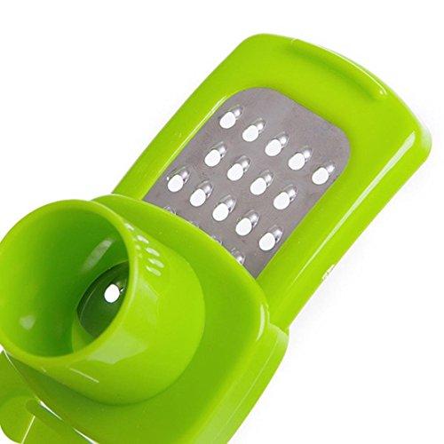 TAOtTAO Multifunktions-Edelstahl, der Knoblauch-Schneider-Schneider-Schredder-Küche Auch drückt (Grün) -