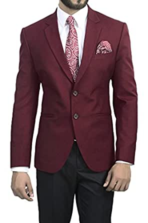MANQ Men's Slim Fit Formal/Party Blazer