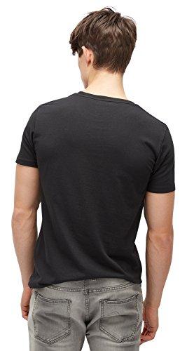 TOM TAILOR Denim für Männer T-Shirt T-Shirt mit Foto-Print Black