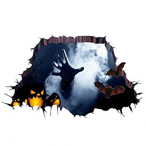 Tdhappy Halloween 3D Aufkleber Horror Boden Wand Aufkleber für Kinder Zimmer Aufkleber Home Decor Festival Party Dekoration