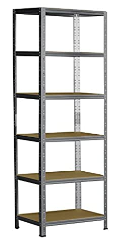 Steckregal 200x45x50 cm verzinkt 6 Böden Kellerregal Metallregal Regal Regalsysteme Lagerregal