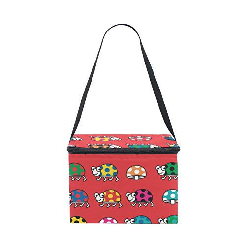 Fantazio pasto prep colli colorato ladybug lunch bag