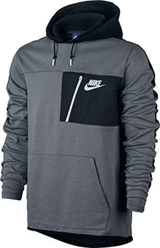nike-m-nsw-av15-hoodie-po-flc-sudadera-hombre-gris-cool-grey-black-white-l