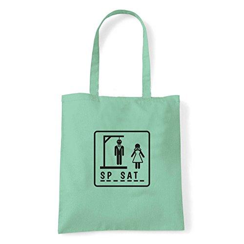 Art T-shirt, Borsa Shoulder Sp-sat-, Shopper, Mare Menta