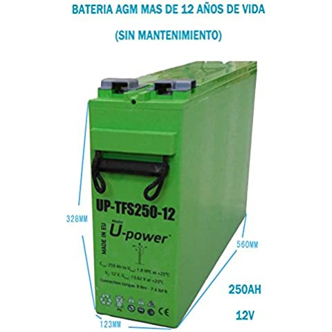 Batería AGM UP-TFS250-12v 250AH Fotovoltaica baterias solar
