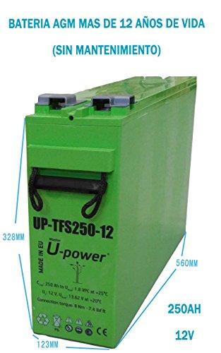 Batería AGM 12V 250Ah UPower TFS250 Solar Fotovoltaica