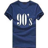 Tosonse Camiseta para Mujer Blusas Clásicas Blusas Tanques De Manga Corta Camisas con Cuello Redondo Estampado De Concierto Túnica